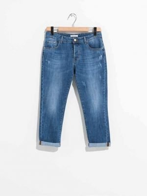 ", Denim jeans FR19SPJBETTY ""Stone Wash"" Fracomina Primavera 2019"