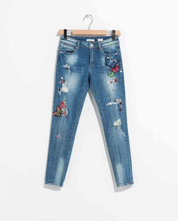 ", Denim jeans FR19SPJMARY3 ""Strong Stone"" Fracomina Primavera 2019"