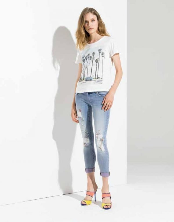 ", Denim jeans FR19SPJMARTINA4 ""Pink Bleach"" Fracomina Primavera 2019"