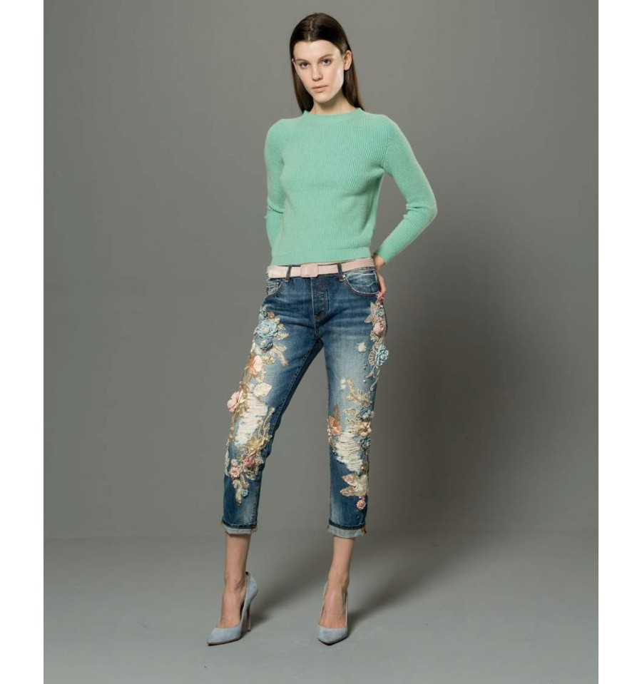 Jeans denim Donna Fracomina art FR18FMJCARA9 Autunno Inverno 201819