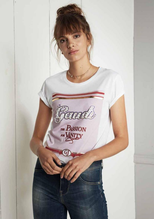 , T-shirt art 921BD64049 Donna Gaudi jeans Autunno Inverno 2019/20